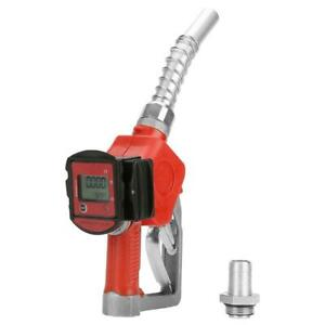 Digital Fuel Oil Diesel Kerosene Gasoline Nozzle Gun With Flow Meter Brand New