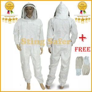Sting Protective Coverall Beekeeping Bee Suit With Free Gloves