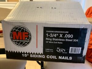 304stainless Steel Coil Siding Fencing Nails 1 3 4 l X 090 3600 Nails box