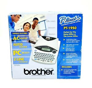 Brother P touch Electronic Labeling System Pt 1950 2004 New open Box