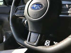 Dry Carbon Steering Wheel Replacement Trim Cover 3k For Subaru Wrx 2015 2019