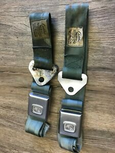 1965 66 Cadillac Deville Fleetwood Used Gm Seat Belt Buckles Oem 2 Pcs