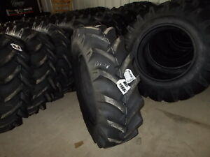 Two New 13 6 28 8 Ply R1 Tractor Tires