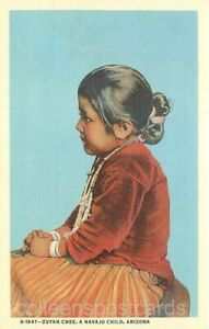 Native Americana Arizona Zuyah-Chee A Navajo Child Linen Harvey H-1947 $4.00