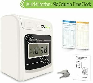 Punch Time Clock Attendance Time Stamp Machine For Employees Small Business