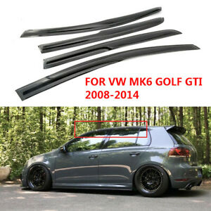 3d Wavy Shape Smoke Tinted Window Visor Vent Shade For 2008 2014 Vw Mk6 Golf Gti