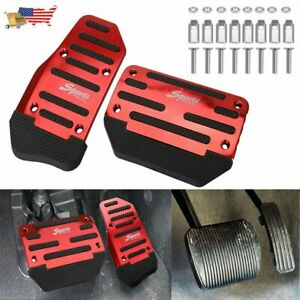 1set Universal Non Slip Automatic Gas Brake Foot Pedal Pad Cover Car Accessories