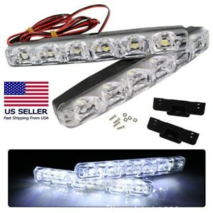 2pcs Drl Led Car Daytime Running Light 6 Led Dc 12v Auto Light Driving Lamp New