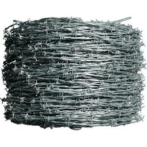 Farmgard Barbed Wire Fencing 1 320 Ft 4 point Class I 12 1 2 Gauge Galvanized