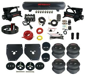 Complete Air Ride Suspension Kit For 63 72 C10 3 8 Manifold Bags Brackets Tank