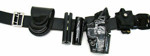 Gould goodrich Patton Leather Duty Belt 34 36 Sig 226 Right Holster Complete J