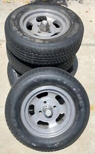 Cal Mag 500 13 Wheels For Sunbeam Tiger Ford Cobra Good 185 Tires No Scuffs