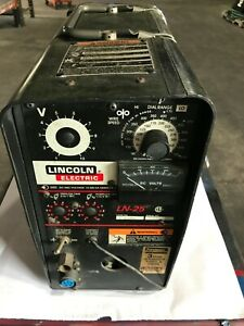 Lincoln Ln 25 Wire Feeder Mig Flux Core With Mig Gun