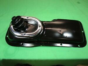 Mg Mgb 62 67 Transmission Shifter Cover W Boot Chrome Trim Ring Original