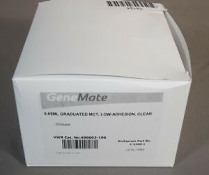Pkg 500 Genemate 0 65ml Low adhesion Thermo Graduated Micro Centrifuge Tubes