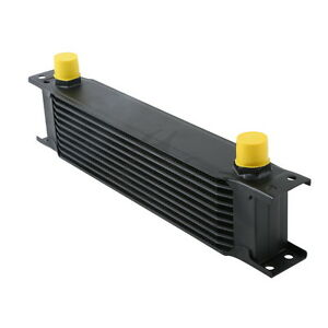 Black Universal 10row An 10an Engine Transmission Racing Oil Cooler British Type