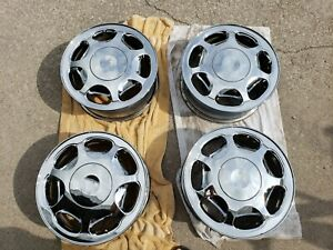 1990s 2000s Set Of 4 Buick Park Avenue Riviera Oem Chrome Wheels W Center Caps