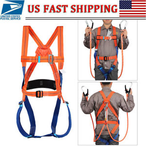 Safety Harness Full Body Fall Protection Arrest Construction Harness Waist Belt