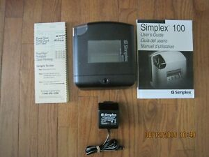 Simplex100 Time Recorder Model 1603 9109