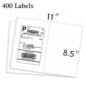 400 Self Adhesive Address Shipping Labels 8 5 x5 5 Half Sheet Round Corner Usps