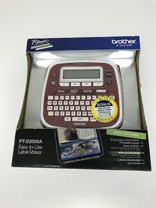 Brother P touch Pt d200sa Label Maker Limited Edition W bonus Tape Free Priority