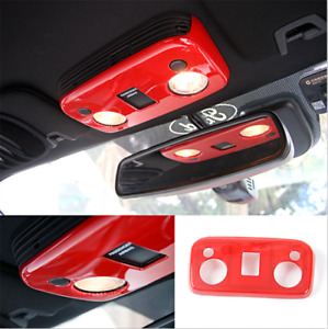 Red Car Interior Roof Reading Lamp Light Cover Trim For Ford Mustang 2015 2020