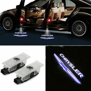 2pc Car Door Lights Ghost Projector Laser Logo Lamp For Chrysler 300 2005 2016