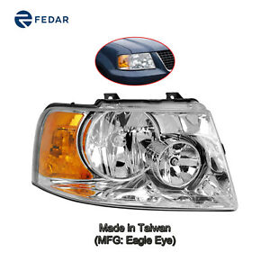 Chrome Headlight Lamp Fit 2003 2004 2005 2006 Ford Expedition Passenger Right