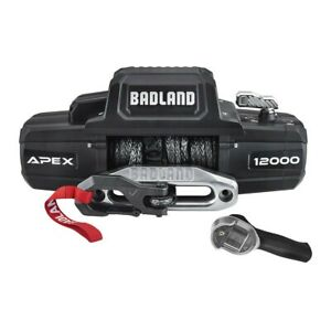 Badland Apex Synthetic Rope12 000 Lbs Wireless Winch