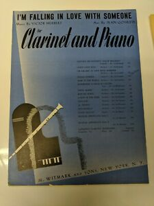Clarinet Sheet Music I#x27;m Falling In Love With Someone By Victor Herbert 1940