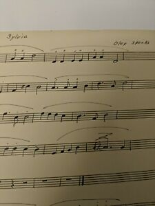 Clarinet Sheet Music Sylvia By Oley Speaks Hand Transposed