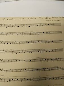 Clarinet Sheet Music Transposed I Wonder Who#x27;s Kissing Her Now and Barcarolle
