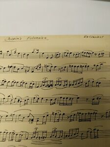 Clarinet Sheet Music Chopin#x27;s Polonaise Hand Transposed