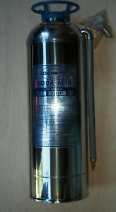 Vintage 1966 General Fire Extinguisher Ss 15b Stainless Steel empty