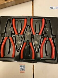Snap On 5 Piece Retaining Ring Pliers Set Exc In Plastic Tray