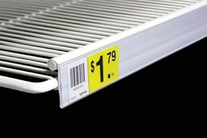 Price Label Upc Tag Holders Double Wire Shelves coolers freezer clear 25 75 5pc