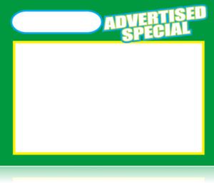 Bulk Case Of 1 000 Advertised Special Retail Store Sale Price Tags Signs Cards