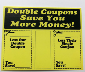 Double Coupon Price Cards display Case shelf Signs Tags 50pcs 5 5x7