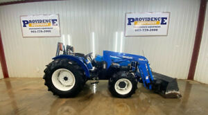 New Holland Tn65 4x4 Tractor Loader With 32la Loader Front Aux Rear Aux