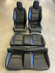 2010 2015 Chevy Camaro Ss Black Leather Heated Seats Full Set Front And Rear