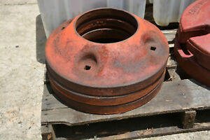 International Farmall Cub Tractor Rear Wheel Weights Ih Weight Pair