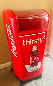 Coca cola ice chest Cooler With Rolling Wheels - May Be Willing To Ship!
