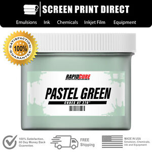 Pastel Green screen Printing Plastisol Ink Low Temp Cure 270f 8oz