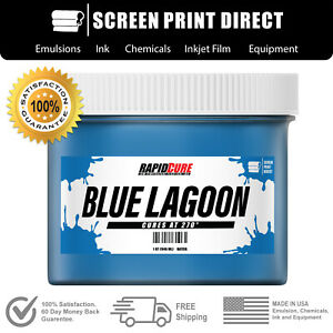 Blue Lagoon Low Temperature Cure Plastisol Ink For Screen Printing 8oz