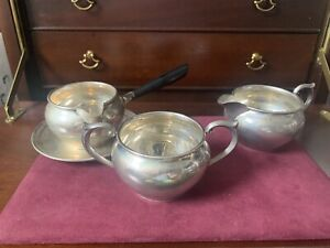 Vintage Newport Sterling Silver Sugar And Creamer