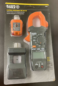 Klein Tools Clamp Meter And Electrical Test Kit Cl120kit New