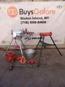 Ridgid 300 T 2 Pipe Threader Threading Machine 1 2 2 Inch 2 Dies 141 Tripod