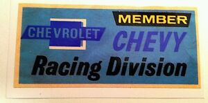 Chevy Racing Sticker Decal Hot Rod Rat Rod Vintage Look Car Truck Drag Race