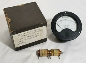 Nos Vtg Westinghouse Dc 0 2 Kilovolts Panel Meter Gauge Multipliers Steampunk