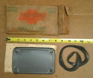 Nos Gm 59 60 Chevrolet Rear Seat Speaker Grille Accessory 9 Pass Station Wagon